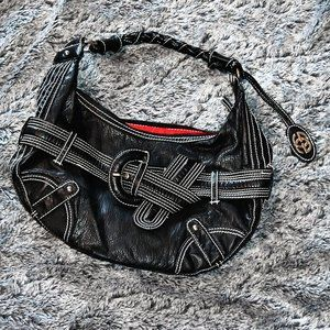 Red by Marc Ecko Belted Hobo Bag